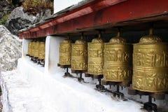 Rotelle di preghiera - Nepal fotografia stock libera da diritti