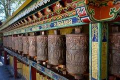 Rotelle di preghiera - palazzo di Potala Fotografia Stock Libera da Diritti