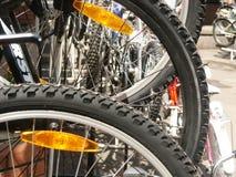 Rotelle di una bicicletta Fotografie Stock