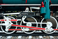 Rotelle di vecchia locomotiva di vapore Immagine Stock Libera da Diritti