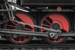 Rotelle locomotive Immagini Stock Libere da Diritti