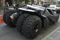 Rotelle posteriori di Batmobile Fotografie Stock