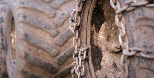Rotelle sporche del trattore Immagine Stock Libera da Diritti