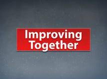 Roten Fahnen-Zusammenfassungs-Hintergrund zusammen verbessern stock abbildung