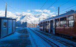 Rotenboden, stacja przed ostatnią przerwą przy Gornergrat obraz stock