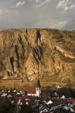 Rotenfels nella città di Ebernburg Fotografia Stock