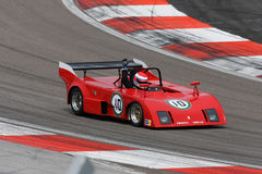 Roter Abarth Sportwagen Stockfotos