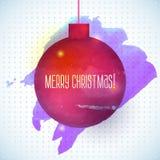 Roter abstrakter Aquarellhintergrund des Weihnachtsballs Stockbilder