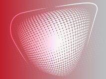 Roter abstrakter Halbtoneffekthintergrund vektor abbildung