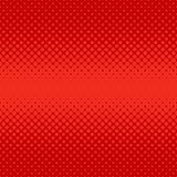 Roter abstrakter Halbtonpunktmusterhintergrund - vector Grafikdesign von den Kreisen Lizenzfreie Stockfotos