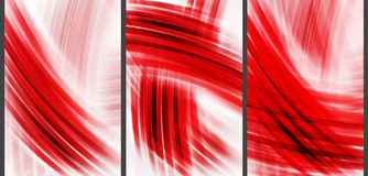Roter abstrakter Hightechhintergrund Stock Abbildung