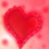 Roter abstrakter Hintergrund des Farbherzens Lizenzfreies Stockbild