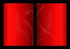 Roter abstrakter Hintergrund, Frontseite und Rückseite Lizenzfreies Stockfoto