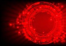 Roter abstrakter Hintergrund mit glühenden Leuchten Stockfoto