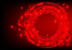 Roter abstrakter Hintergrund mit glühenden Leuchten stock abbildung