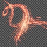 Roter abstrakter Hintergrund mit unscharfem magischem Neonlicht Vektor ENV 10 Stockbild