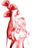Roter abstrakter Rauch stockfotografie