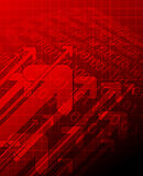 Roter abstrakter technischer Hintergrund Lizenzfreies Stockbild