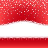 Roter abstrakter Weihnachtsvektorhintergrund Lizenzfreies Stockbild