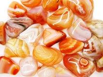 Roter Achat Botswanas geologisches semigem Mineral-Kristalle collecti Stockfotografie