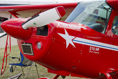 Roter Aerobatic Australien-Flugzeug-Abschluss oben Lizenzfreies Stockbild