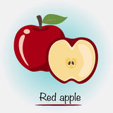 Roter Apfel Auch im corel abgehobenen Betrag Stockfotos