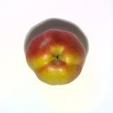 Roter Apfel auf Isolat Stockbild
