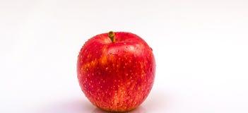 Roter Apfel auf Weiß Lizenzfreies Stockbild