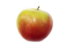 Roter Apfel auf weißem Hintergrund Lizenzfreie Stockfotos
