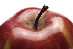 Roter Apfel, Detail Lizenzfreies Stockfoto