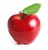 Roter Apfel getrennt Stockfotografie
