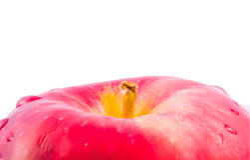 Roter Apfel getrennt stockfotos