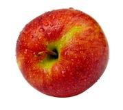 Roter Apfel getrennt Stockbild