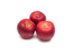 Roter Apfel getrennt Stockbilder