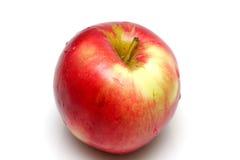 Roter Apfel getrennt auf Weiß Lizenzfreies Stockbild