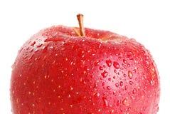 Roter Apfel getrennt auf Weiß Lizenzfreie Stockfotos