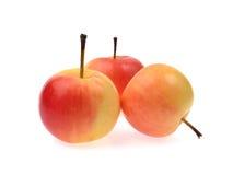 Roter Apfel lokalisiert auf weißem Hintergrund Stockfotos