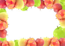 Roter Apfel lokalisiert auf weißem Hintergrundausschnitt Lizenzfreie Stockfotos