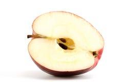 Roter Apfel mit Samen Stockbilder
