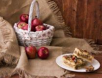 Roter Apfel und Bonbon Stockbilder