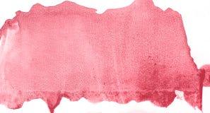 Roter Aquarellhintergrund Schöne Beschaffenheit Stock Abbildung