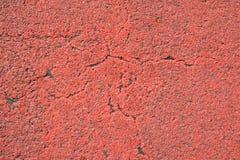 Roter Asphalt Stockfotografie