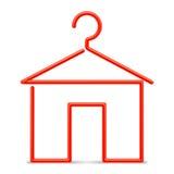 Roter Aufhänger Lizenzfreie Stockbilder