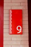 Roter Aufkleber 9 Lizenzfreie Stockfotos