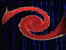 Roter Augendrache Stockbild