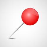 Roter Bürostift realistisch Lizenzfreies Stockfoto