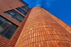 Roter Backstein Buildingding stockbild