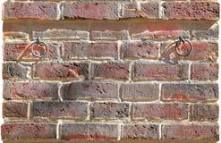 Roter Backsteinmauerbeschaffenheitshintergrund Stockfotos