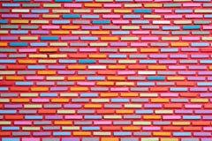 Roter Backsteinmauerhintergrund Stockfotos