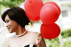 Roter Ballon Stockfotografie